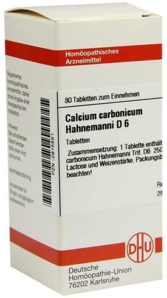 Calcium Carbonicum Hahnemanni D6 80 Tabletten