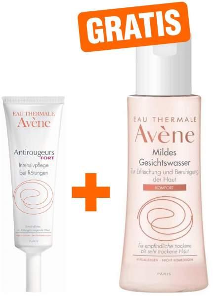 Avene Antirougeurs Fort Intensivpflege 30 ml Creme + gratis Avene Mildes Gesichtswasser 100 ml