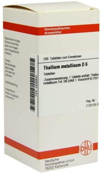 Thallium Metallicum D6 Tabletten 200 Tabletten