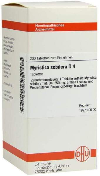 Myristica Sebifera D4 Dhu 200 Tabletten