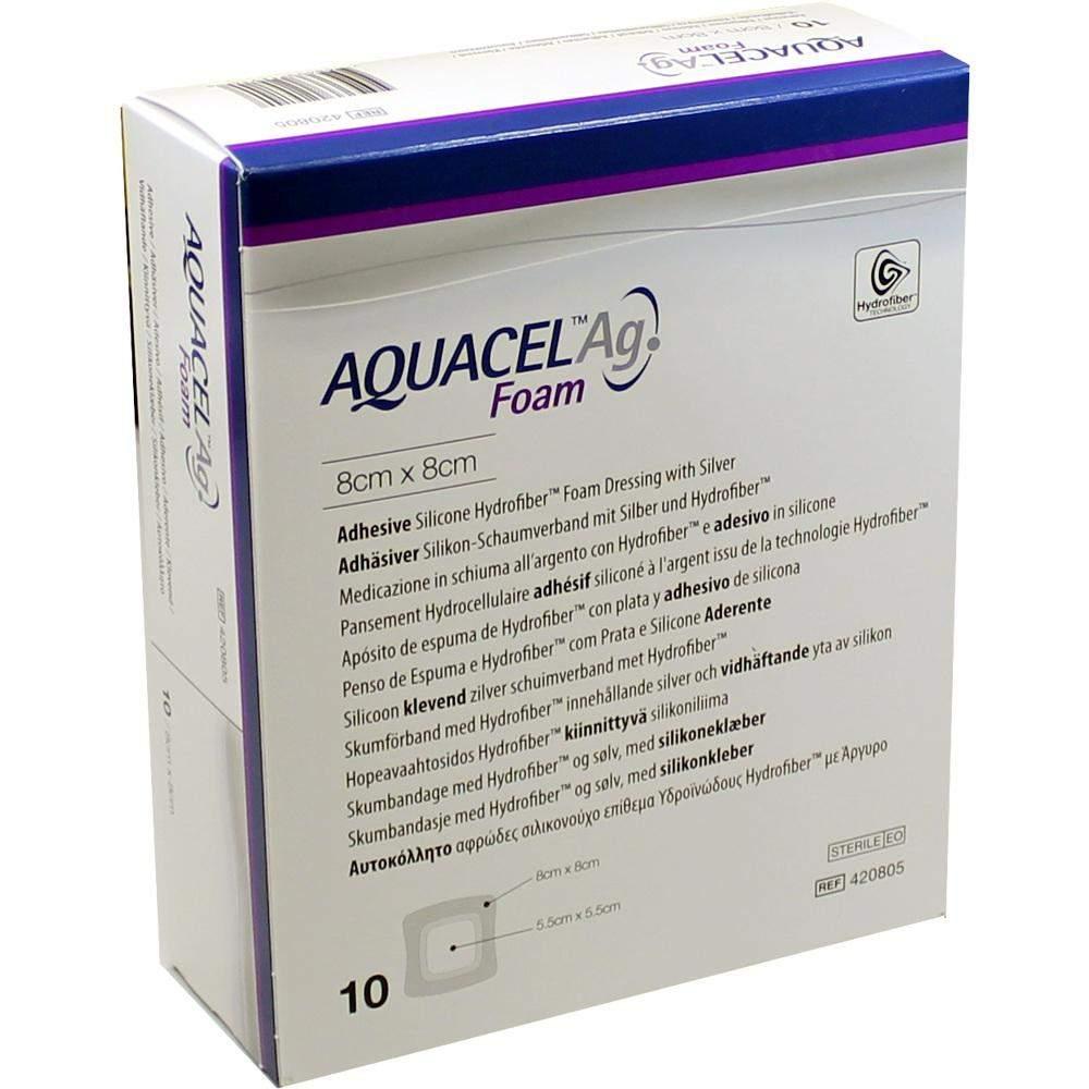 Aquacel AG Foam Adhäsiv 8x8 cm Verban