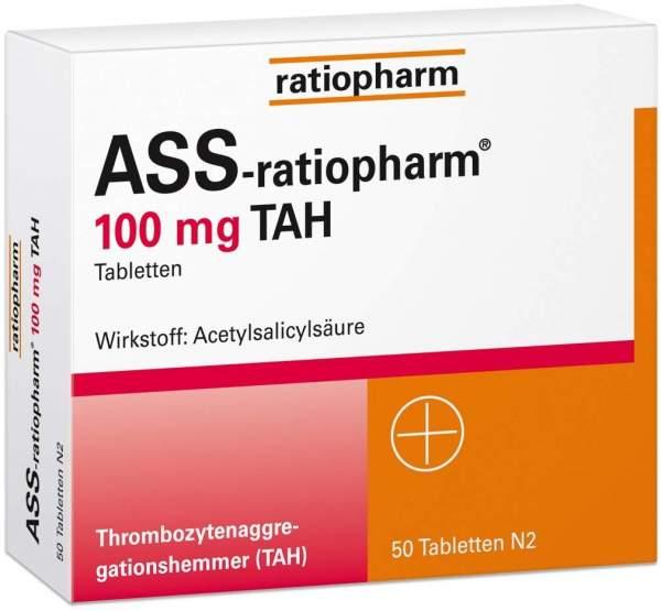ASS-Ratiopharm 100 mg TAH 50 Tabletten