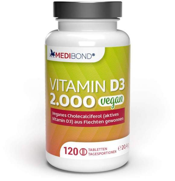 Vitamin D3 2.000 Vegan Medibond 120 Tabletten