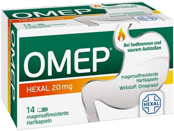 Omep Hexal 20 mg 14 magensaftresistente Kapseln
