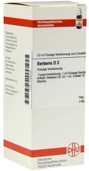 Dhu Berberis D3 Dilution 50 ml Dilution