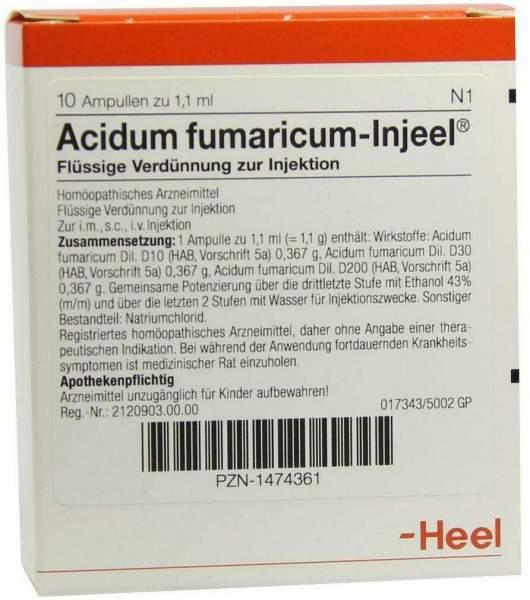 Acidum Fumaricum Injeel 1,1 ml 10 Ampullen