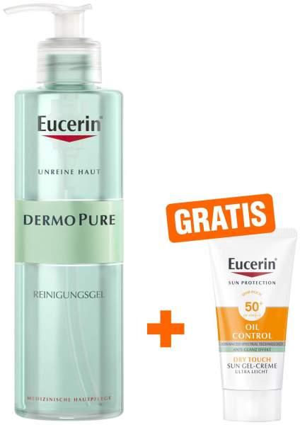 Eucerin DermoPure Reinigungsgel 400 ml + gratis Sun Gel-Creme 50+ 20 ml Gesicht