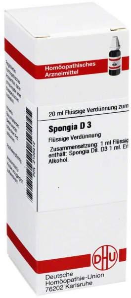 Spongia D3 Dhu 20 ml Dilution