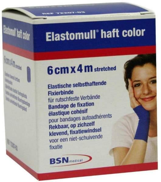 Elastomull Haft 4mx6cm 72207-03 Blau Fixierbinde