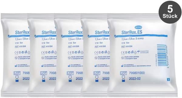 Sterilux ES Kompressen 7,5 x 7,5 cm steril 5 x 2 Stück 8-lagig