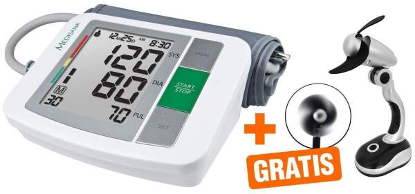 Oberarm- Blutdruckmessgerät BU 510 Medisana + gratis Miniventilator