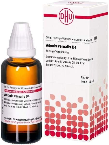 Adonis Vernalis D4 Dhu 50 ml Dilution