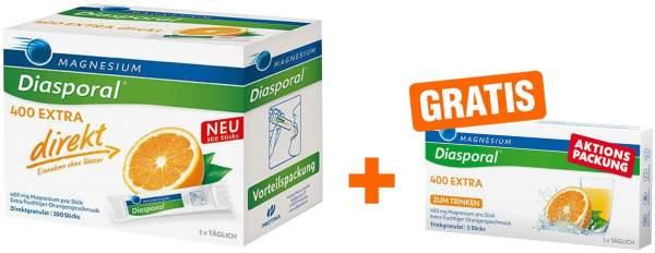 Magnesium Diasporal 400 Extra direkt Granulat + 5 Sticks gratis