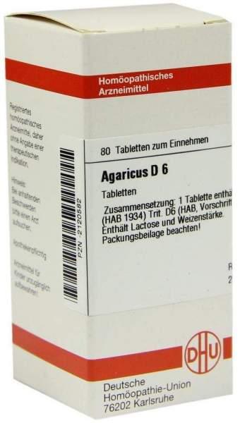 Agaricus D 6 80 Tabletten