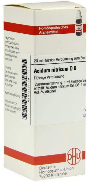 Acidum Nitricum D6 Dhu 20 ml Dilution