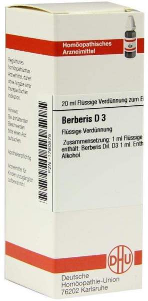 Dhu Berberis D3 Dilution 20 ml Dilution