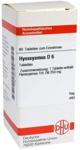 Hyoscyamus D 6 80 Tabletten