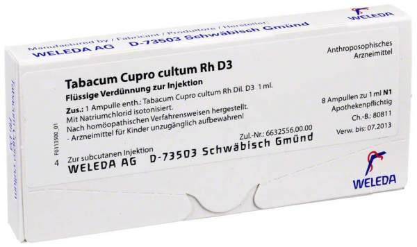 Tabacum Cupro cultum Rh D 3 Weleda 8 x 1 ml Ampullen