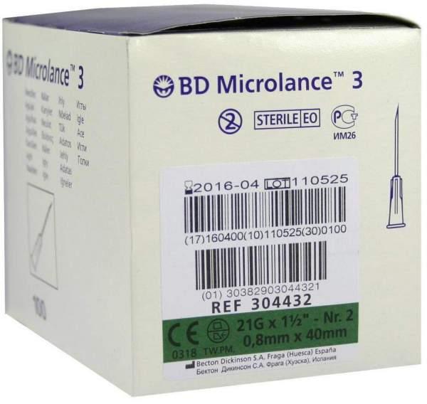 Bd Microlance Kanüle 21 G 1 1-2 0,8 X 40 mm 100 Kanülen