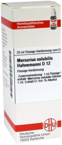 Mercurius Solubilis Hahnemanni D 12 20 ml Dilution