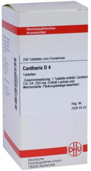 Cantharis D4 Dhu 200 Tabletten
