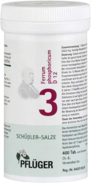 Biochemie Pflüger 3 Ferrum phosphoricum D12 400 Tabletten