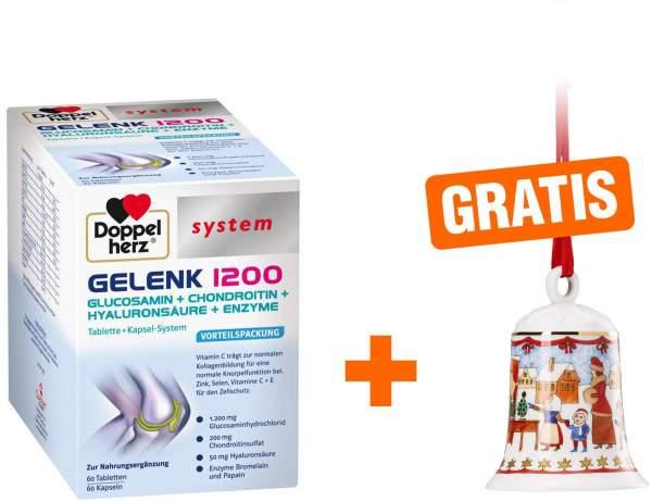 Doppelherz Gelenk 1200 system 60 Kapseln + 60 Tabletten 1 Kombipackung + gratis Hutschenreuther Weihnachtsglocke 2019