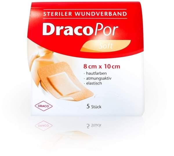 Dracopor Wundverband 10 X 8 cm Steril Hautfarben 5 Verbände
