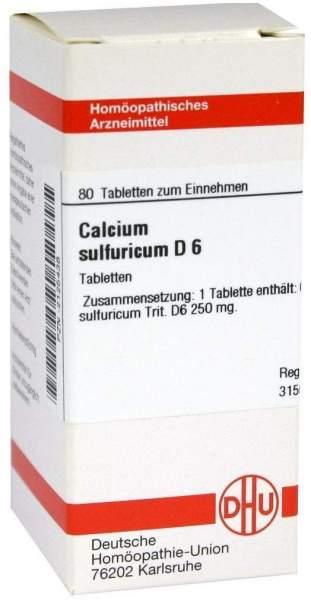 Calcium Sulfuricum D 6 80 Tabletten