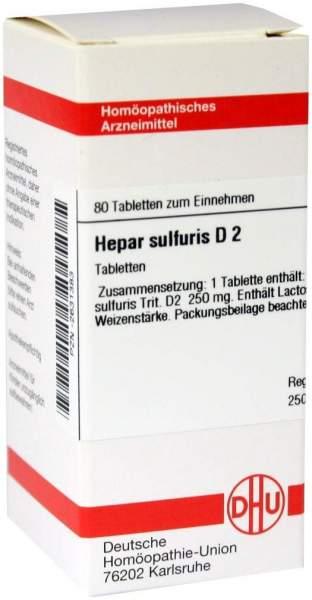 Hepar Sulfuris D 2 80 Tabletten