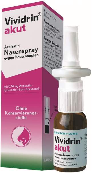 Vividrin akut Azelastin Nasenspray gegen Heuschnupfen 5 ml Nasenspray
