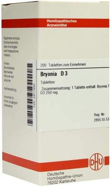 Bryonia D 3 200 Tabletten