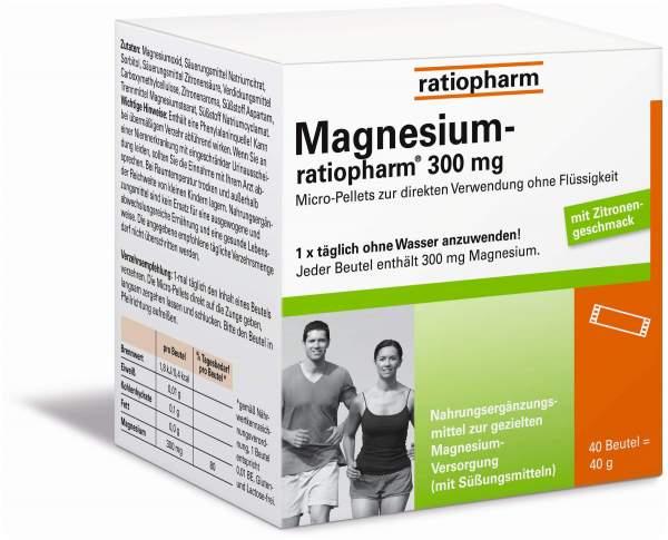 Magnesium ratiopharm 300 mg Pellets 40 Stück