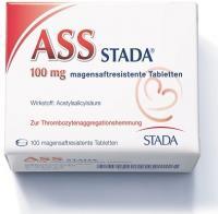 Ass Stada 100 mg 100 magensaftresistente Tabletten
