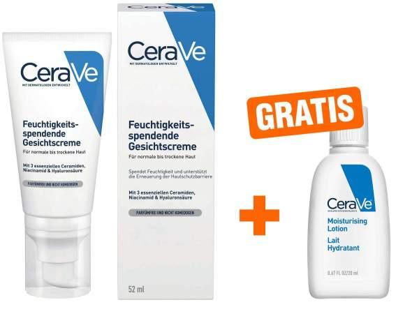 CeraVe feuchtigkeitsspendende Nachtcreme 52 ml + gratis 20 ml Feuchtigkeitslotion