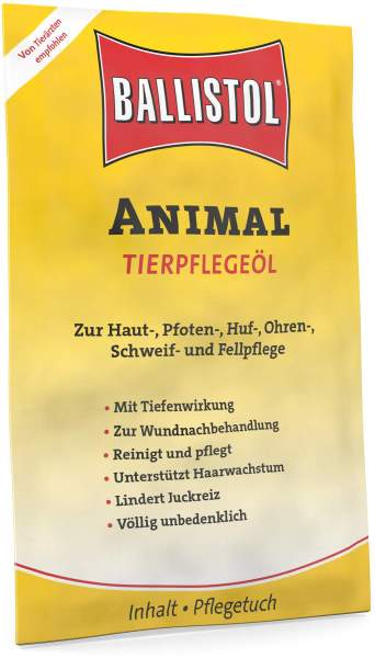 Ballistol Animal vet. 10 Pflegetücher