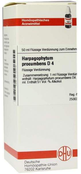 Harpagophytum Procumbens D4 Dhu 50 ml Dilution