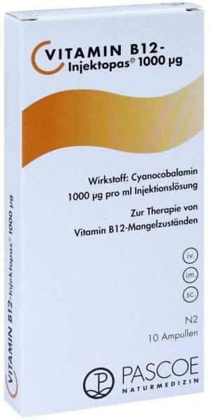 Vitamin B12 Injektopas 1000 µg 10 X 1 ml Injektionslösung