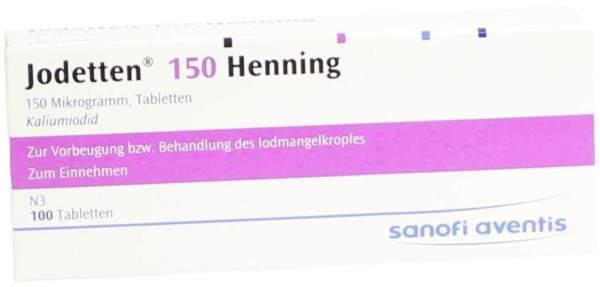 Jodetten 150 Henning 100 Tabletten