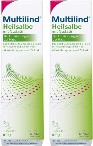 Multilind Heilsalbe mit Nystatin 2 x 100 g