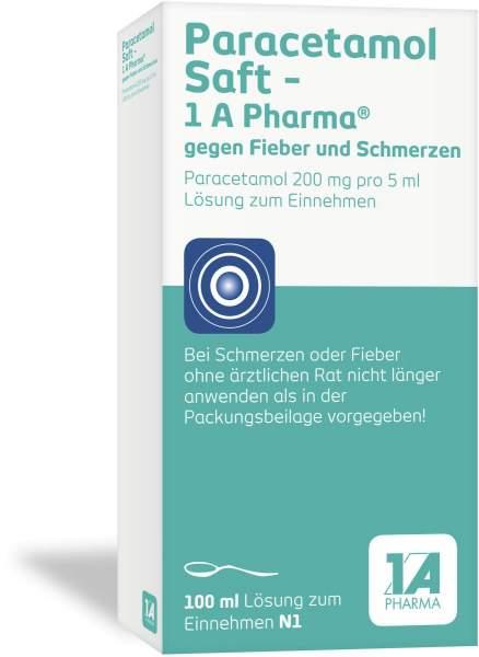 Paracetamol 1A Pharma 100 ml Saft
