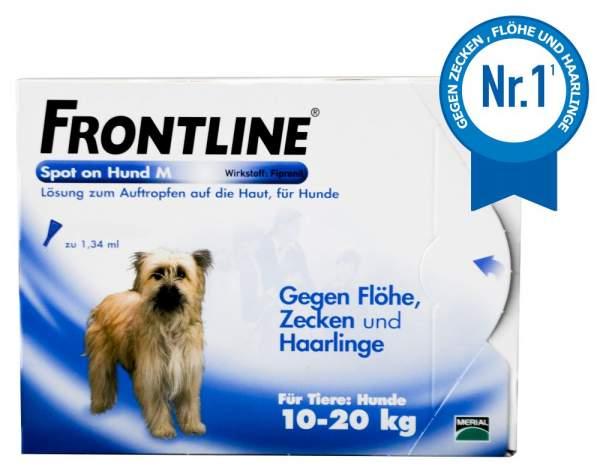 frontline spot on hund m 10 20kg 3 l sungen bei volksversand kaufen volksversand versandapotheke. Black Bedroom Furniture Sets. Home Design Ideas