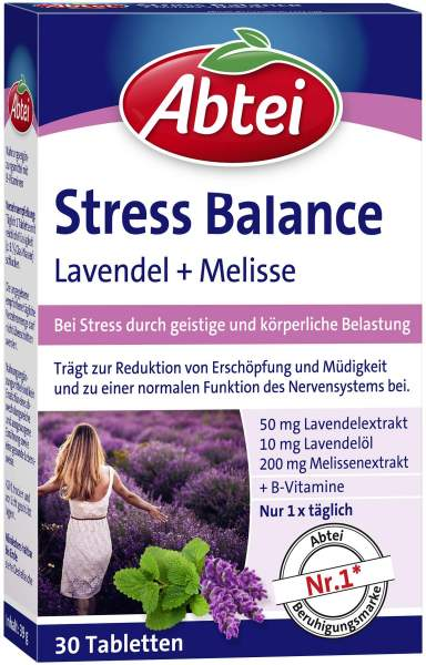 Abtei Stress Balance NF Lavendel+Melisse 30 Tabletten