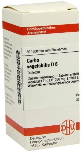 Carbo Vegetabilis D 6 Tabletten 80 Tabletten