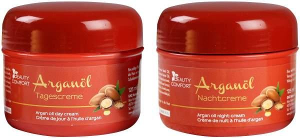 Beauty Comfort Argan-Öl 2er Set Tag- und Nachtcreme
