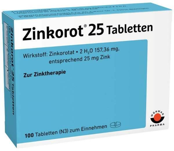 Zinkorot 25 100 Tabletten