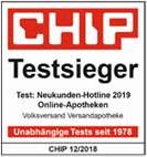 Testsieger Neukunden - Hotlines-Test 2019: Online-Apotheken