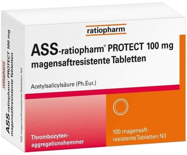 ASS-ratiopharm PROTECT 100 mg 100 magensaftresistente Tabletten