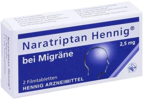 Naratriptan Henning bei Migräne 2,5 mg 2 Filmtabletten