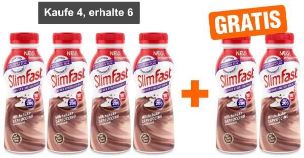 Slim Fast Fertigdrink Cappuccino 4 x 325 ml + gratis 2 x 325 ml